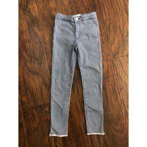 Zara Kids Blue Stripes Skinny Jeans